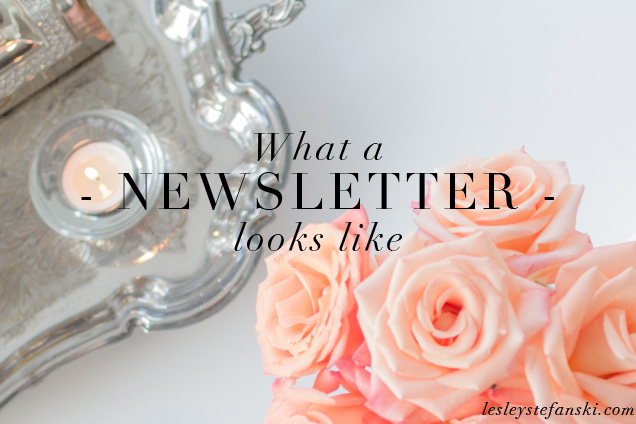 What a newsletter looks like