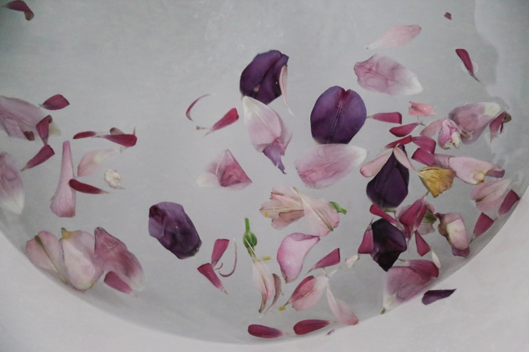 An afternoon flower bath - Lesley Stefanski